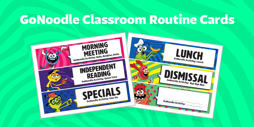 GoNoodle and Classroom Routines: Free Printable Schedule Cards and Back to School Tips!