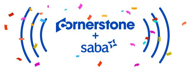 Cornerstone and saba logos