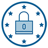 RSC is secure and GDPR compliant* icon