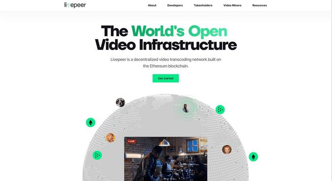 Livepeer.org homepage