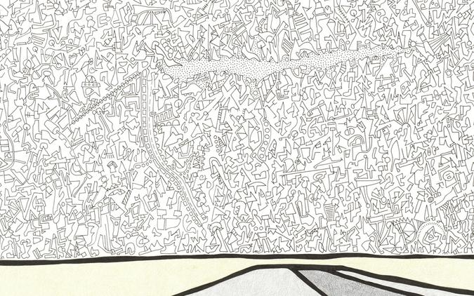 detail of Landscape 2 drawing