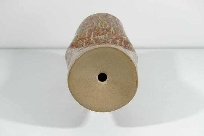 detail of ceramic Whack Tube 1 by Jen Wohlner