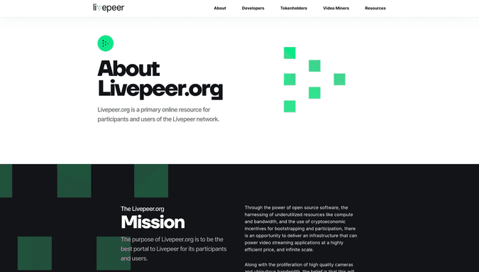 Livepeer.org webpage