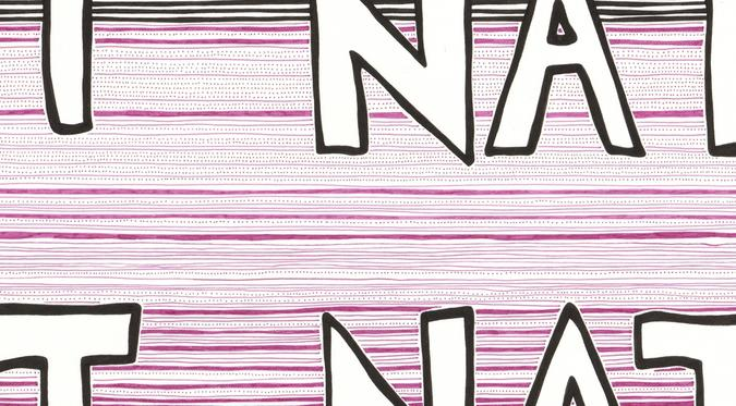 detail of Act Natural (stripes) drawing
