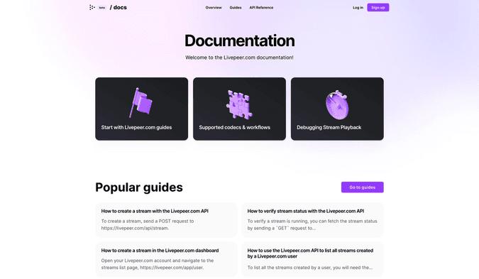 Livepeer.com documentation