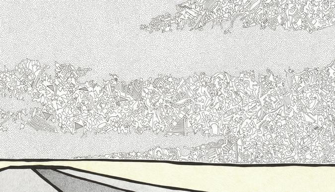 Landscape 1 drawing detail