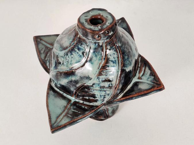 ceramic Four Wing Space Vase