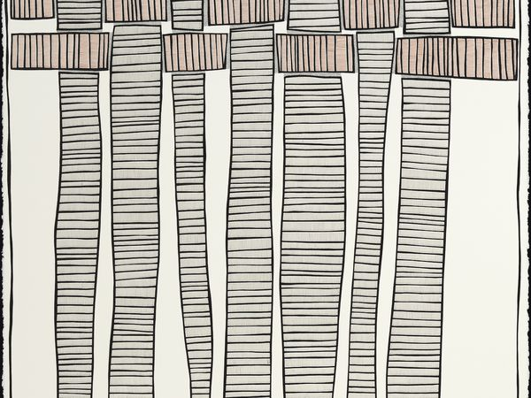 pen drawing Interlaced Strips by Jen Wohlner