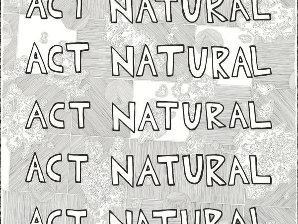 Act Natural (green) drawing