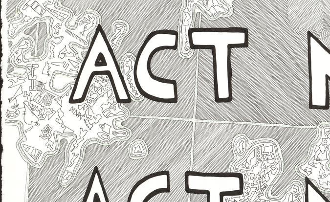 detail of Act Natural (green) drawing