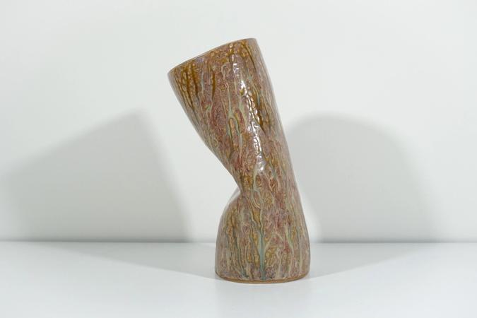 ceramic Whack Tube 1 by Jen Wohlner