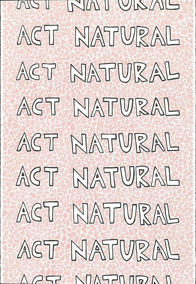 Act Natural (red) drawing