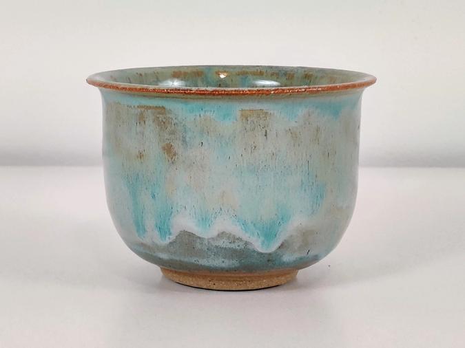 ceramic Tiny Planter (melty blue) Tiny Planter (melty blue)