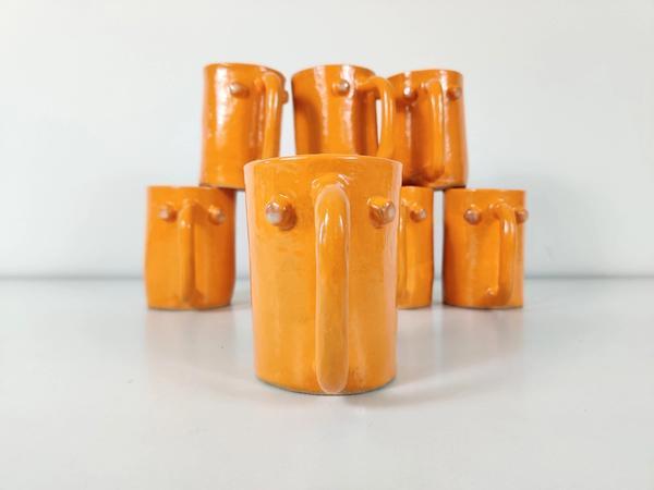 Jen Wohlner ceramic Face Mugs