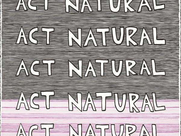 Act Natural (stripes) drawing