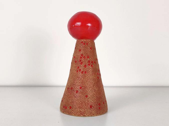 ceramic Red Dot Vase