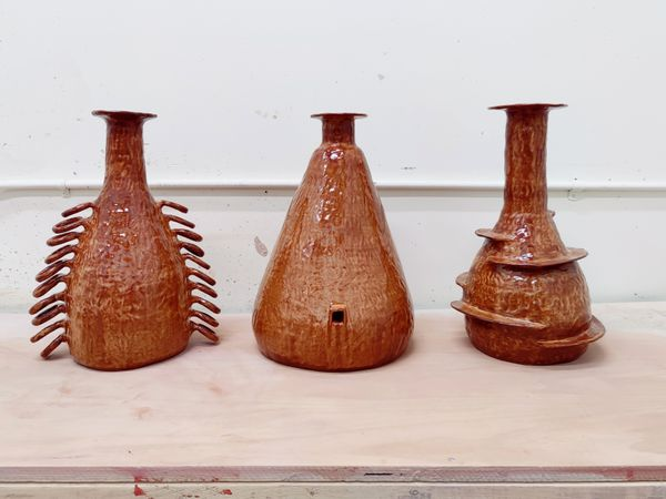 3 Vases with a Little Extra Going On by Jen Wohlner