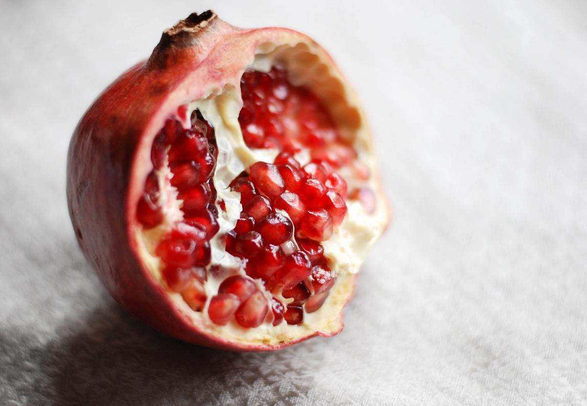 A pomegranate (once used as pessaries for pelvic organ prolapse)