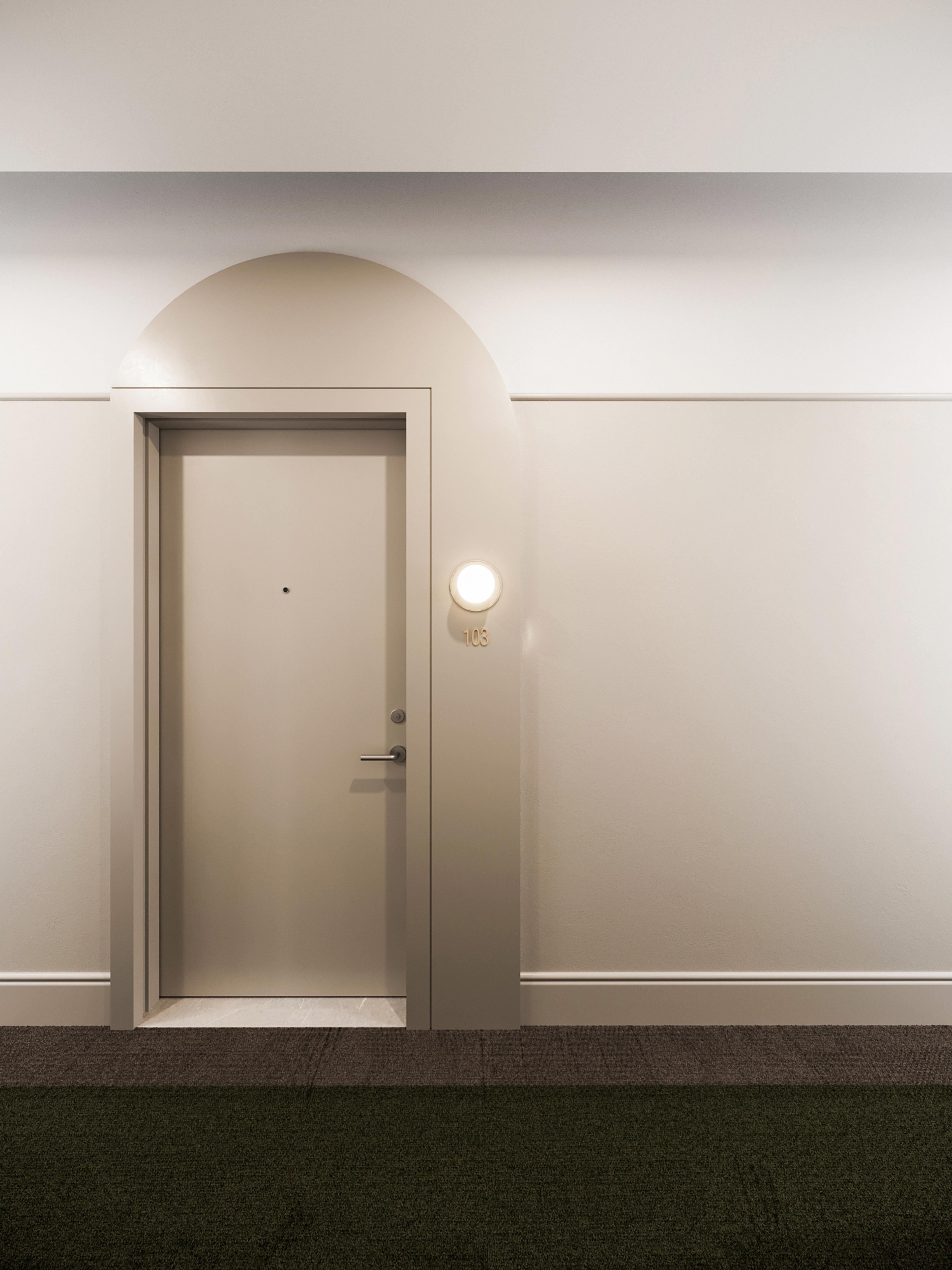 Suite door detail