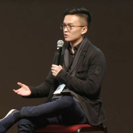 Jason Choi speaking on a panel