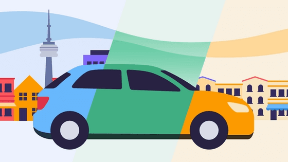 Ride sharing service types