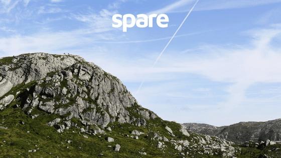 Gjesdal landscape with Spare logo