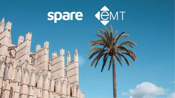 Palma Cathedral with company logos