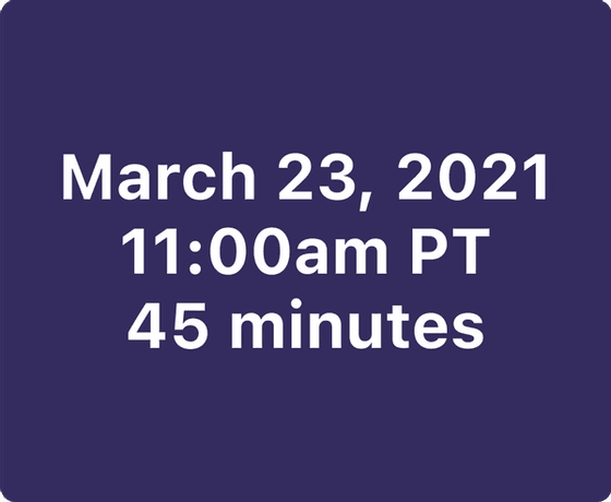 Webinar date and time
