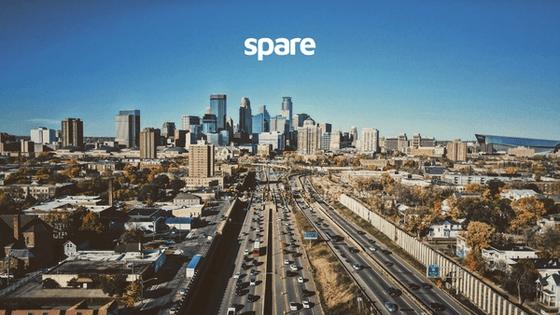 Eden Prairie landscape with Spare logo