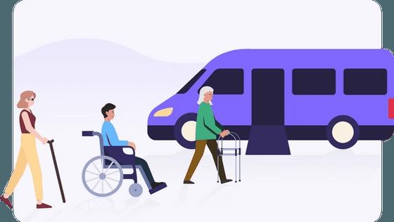 paratransit passengers