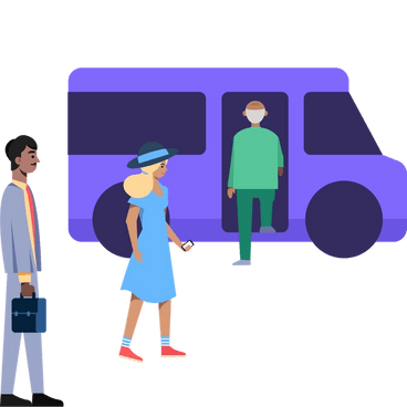 On-demand, shared transportation
