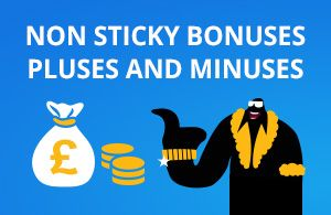 Non-sticky bonus deposits and winnings can be cashed separately from the bonus money