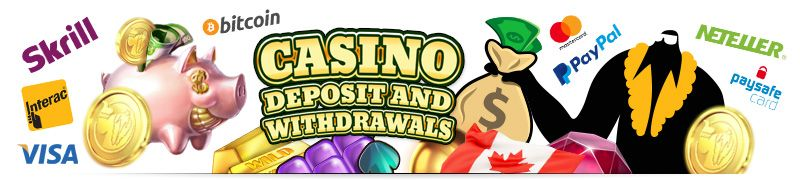 Online casinos banking deposit and withdrawals