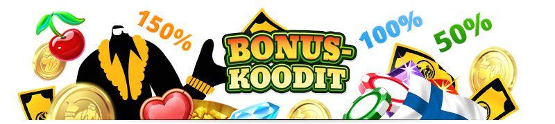Bonuskoodeja, lunasta iso bonus hyödyntämällä bonuskoodi