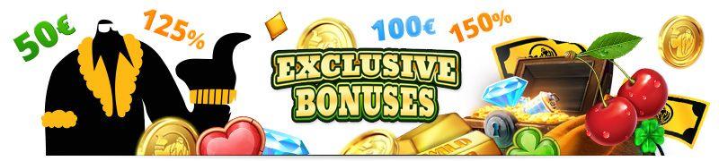 Get exclusive casino bonus