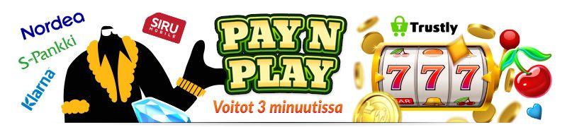 Parhaat nettikasinot ilman rekisteröitymistä vertailussa. Tee Trustly Pay N Play talletus ja pelaa ilman rekisteröintiä ja saat nopeat kotiutukset 3 minuutissa.