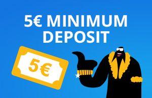 5€ minimum deposit to casino