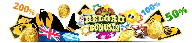 Best Casino Reload Bonuses New Zealand