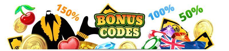 bonus codes New Zealand