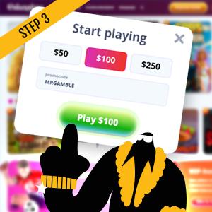 How to use Canadian online casino bonus code Step 3