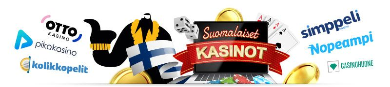 Kaikki suomalaiset kasinot netissä kuten otto kasino, kolikkopelit, nopeampi, simppeli, pikakasino ja casinohuone sekä niiden kasinobonukset