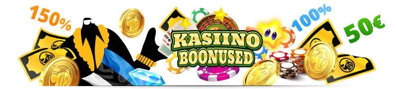 100% 150% 200% eesti kasiino boonused