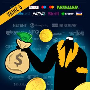 Kuinka kierrättää nettikasino bonus vaihe 5