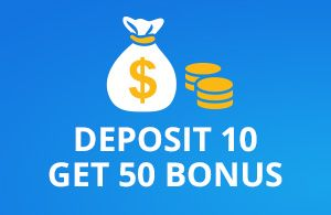 deposit 10$ play with 50$