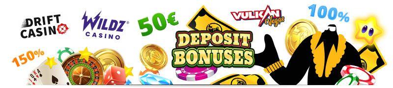 Get deposit bonuses