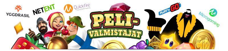kasinopelien pelivalmistajat kuten netent, yggdrasil, microgaming, playn go