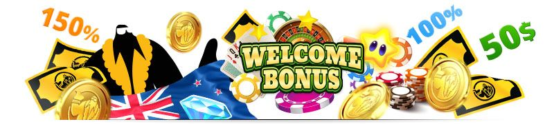 listed the top rated casino welcome bonuses for New Zealand players