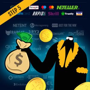 How to wager online casino bonus Step 5