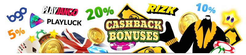 best UK casino cashback bonuses