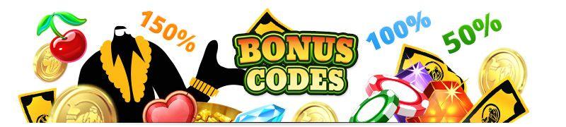 Bonus codes listed